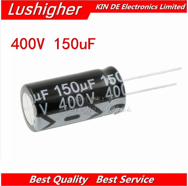2PCS 400V150UF 400V 150UF 18*35mm 150UF 400V 18x35 Mm Aluminum Electrolytic Capacitor DIP
