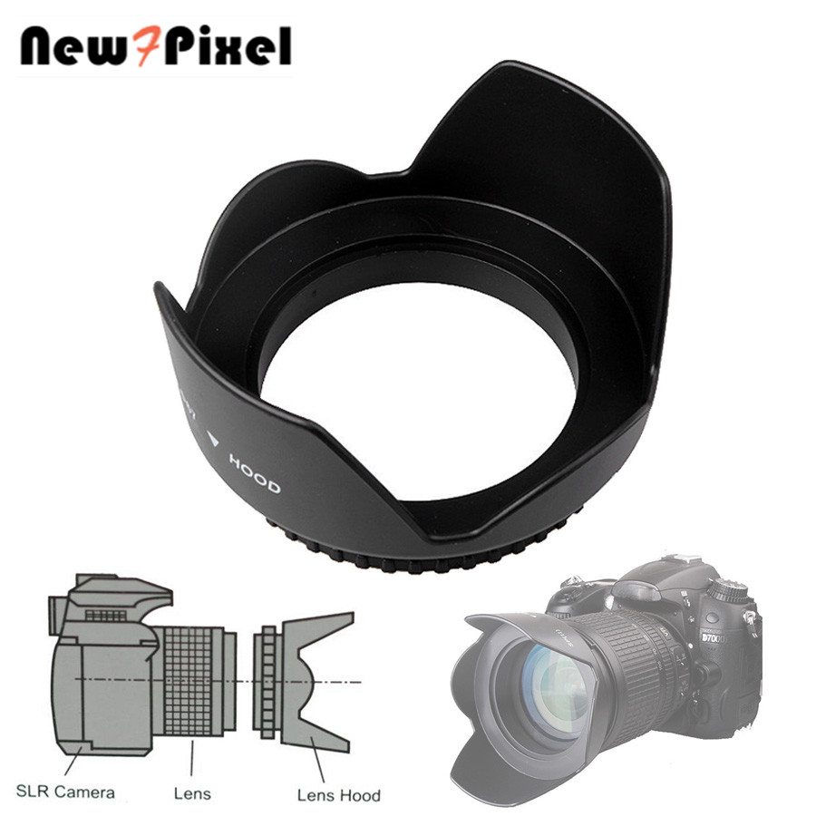 49mm <font><b>52mm</b></font> 55mm 58mm 62mm 67mm 72mm 77mm Screwed Flower Petal Sunshade Lens <font><b>Hood</b></font> For Nikon Canon Sony Fuji Olympus DSLR Camera image