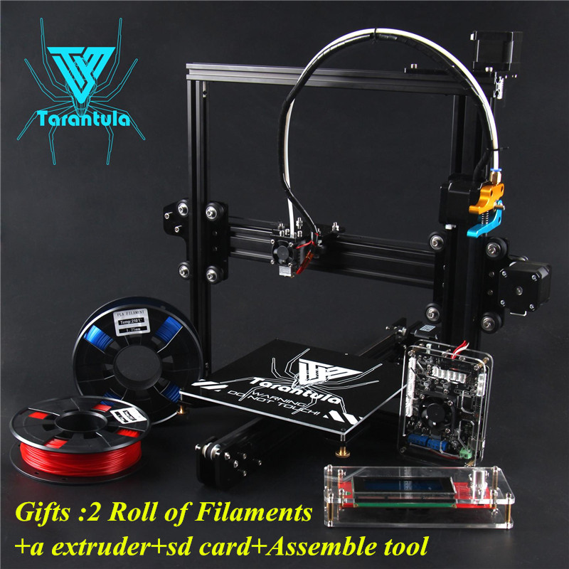 цена 3D Printer Kits TEVO Tarantula I3 Aluminium Extrusion 3D Printer kit 2xFilaments+Extruder+SD Card+Assemble Tool as Gift