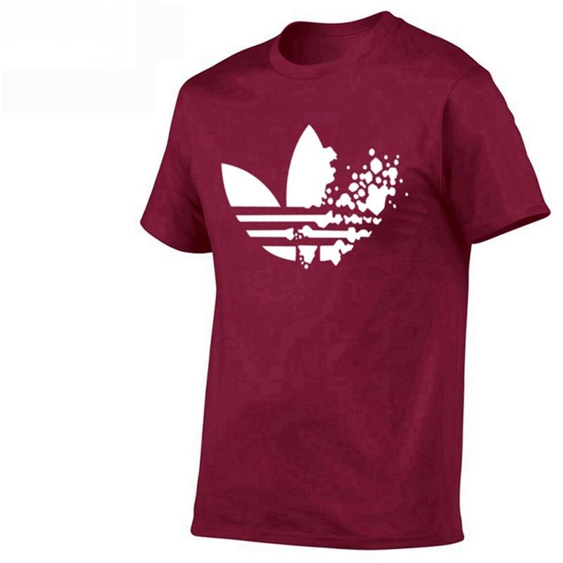 Cotton casual LOGO printing men's T-shirt top fashion short-sleeved men's T-shirt men's Tshirt shirt men's T shirt 2019