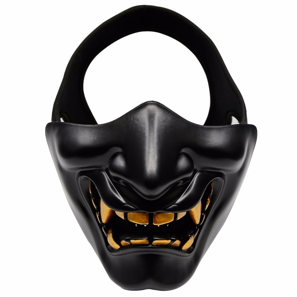 WosporT Airsoft Paintball Mask Hannya Halloween Masks Army 2 BB Gun Paintball CS Game Hunting Party Prop Mask