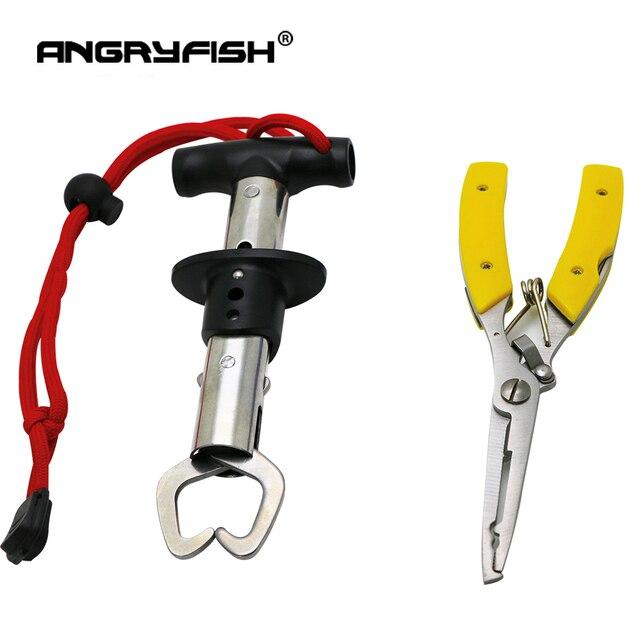 ANGRYFISH narzędzie połowowe zestaw zawiera ze stali nierdzewnej uchwyt wędkarski ryb kontroler + wielofunkcyjny hak połowów linii szczypce rybackie Fishing Tackle