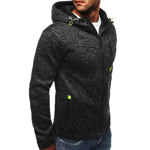 Image 3 - Men Sports Casual Hoodies Wear Zipper COPINE Fashion Tide Jacquard Fleece Jacket Fall Sweatshirts AutumnWinter Coat dropshipping