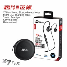 Authentic MEE audio X7 Plus Sports activities Bluetooth Headphones Wi-fi In ear Headset For Iphone Android Cell Earphones Stereo Earbud
