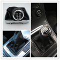 Fast Shipping For VW Passat B6 CC 3C R36 TDI TFSI TSI 2006-2011 6 Speed Car Shift Gear Knob Covered Real PU Leather With Chrome