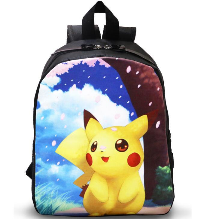 cartoon School Bags Kids Pokemon Backpack Boys Girls Kawaii Pikachu Mochila Infantil kindergarten low grade Student School Bag