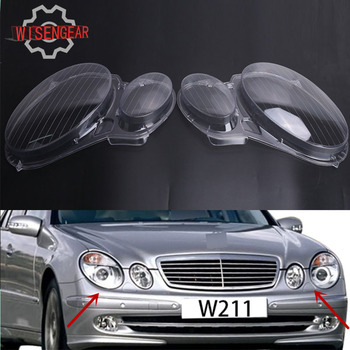 For Benz W211 Headlight Cover Front Head Lamp Lens Shell For Mercedes Benz E Class W211 E350 E320 E500 2006 2007 2008 PD554