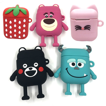 3D Cute Cartoon Silicone Case For AirPods Protector Colorful Cover iPhone Earpods Wireless Earphones Box Accessories
