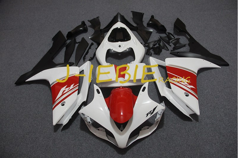 White red Black Injection Fairing Body Work Frame Kit for Yamaha YZF 1000 R1 2007 2008