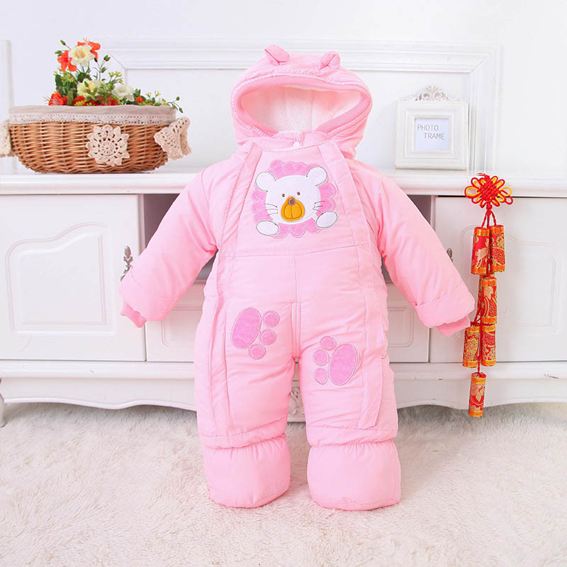 Baby Girl Clothes Winter Coat Baby Boy Jumpsuit Baby Rompers Overalls Newborn Outerwear Coats For Baby Jackets Winter Jackets(China)