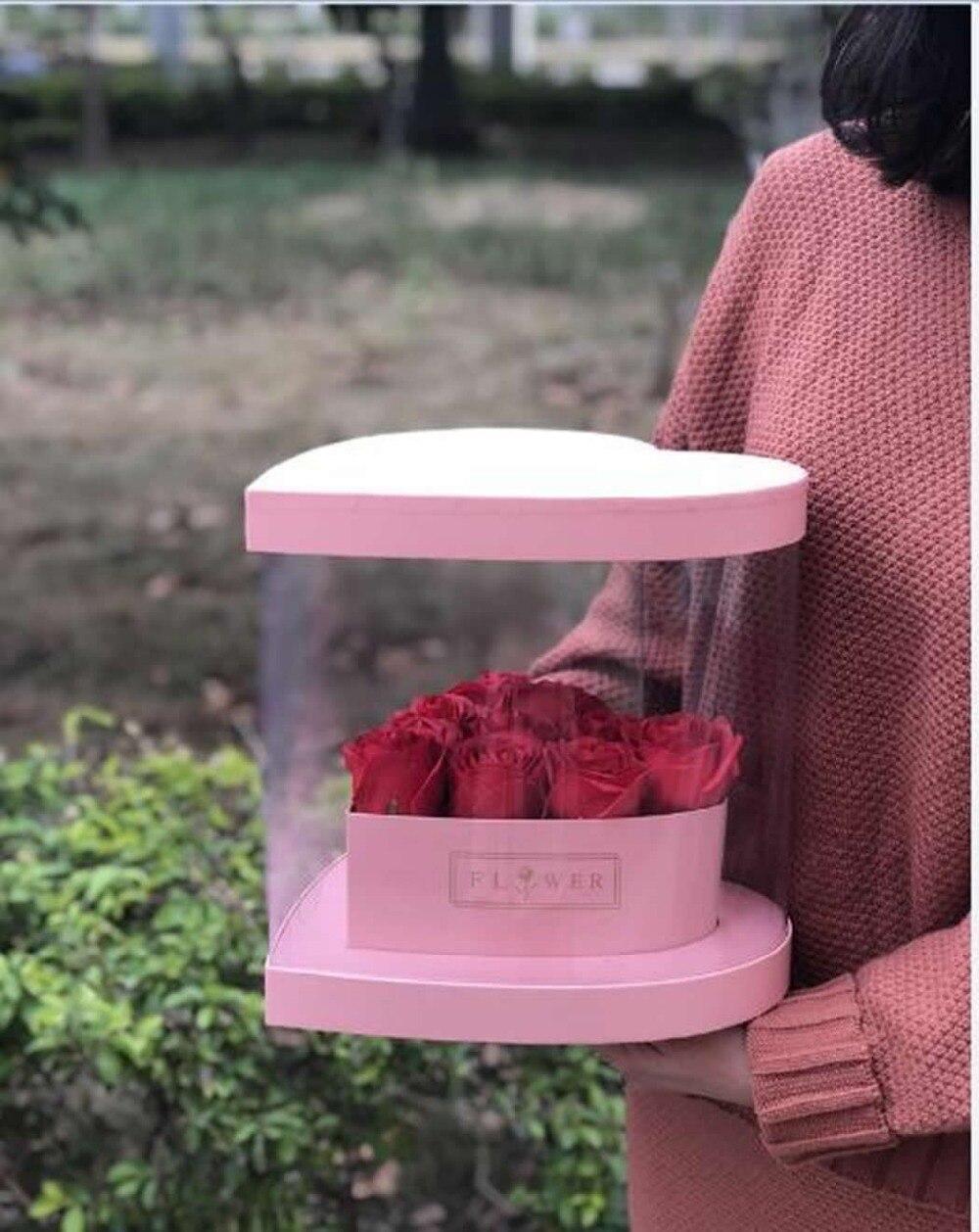 Bigger Clear Square Wedding Favor Gift Box PVC Transparent Birthday ...