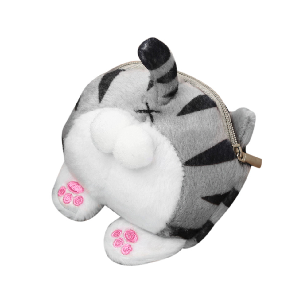 Bags For Women 2018 Coin Wallet Coin Pouch Girls Wallet Girls Purse Cute Cat Butt Tail Plush Coin Purse Change Purse Bag