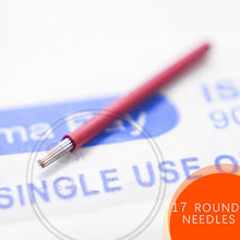 100 Pcs 17 Round Needles For Manual Pen Semi Permanent Makeup Manual Fog Pen Needle R17 Microblading Eyebrow Pen Needles
