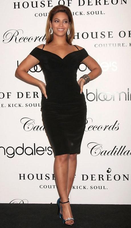 Black Beyonce Short Sheath Celebrity Dresses Spaghetti Straps V ...