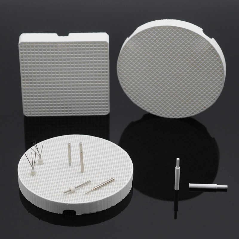 Kwadratowe/okrągłe tace do wypalania plastra miodu metalowe kołki/cyrkonie szpilki do laboratorium dentystyczne
