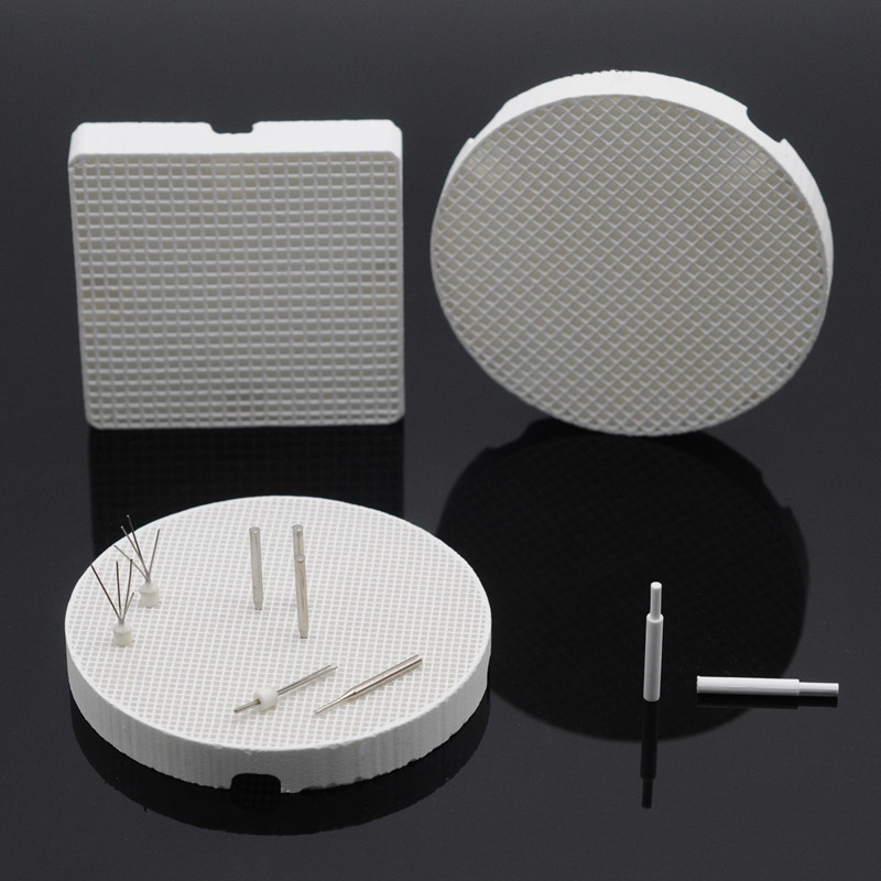 Square/Round Honeycomb Firing Trays Metal Pins/Zirconia Pins For Dental Lab Supplies