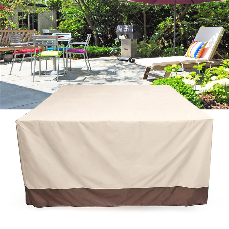 3 Shapes Waterproof Outdoor Garden Patio Furniture Covers Rain Snow Chair Covers For Sofa Table Chair Dust Proof Cover