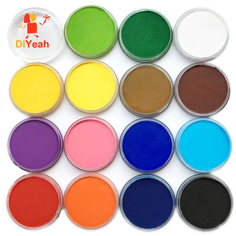 15 Colors Face Paint Color maquillage 30g Halloween Makeup akvagrim Pigment Body Art Model Marker Single maquiagem Body Painting