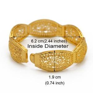 Image 2 - Anniyo 4Pieces/Openable Dubai Bangles Ethiopian Bracelets&Bangles for Women African Wedding Jewelry Arabic Middle East #208406