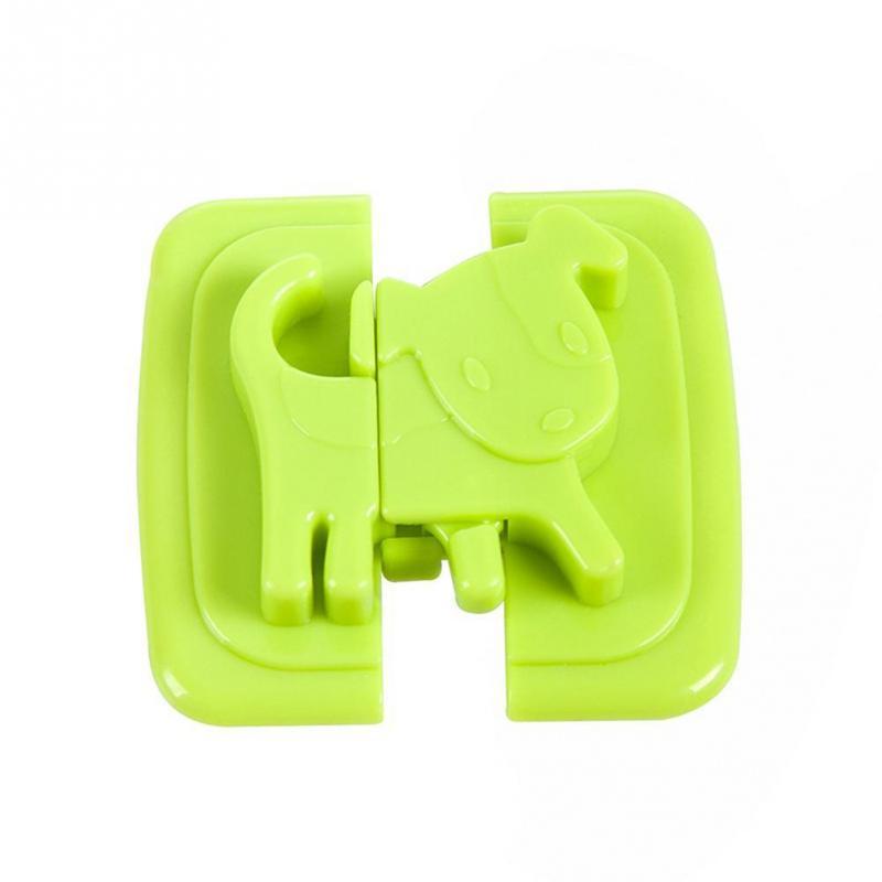 1PC 6 X 6cm Baby Safety Cartoon Shape Fridge Lock Hand Proof Cabinet Lock For Children