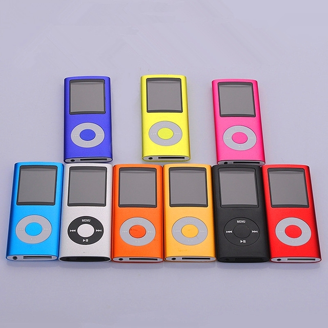 2016 Hot Selling Slim MP3 MP4 Music Player 1.8 inch LCD 16GB Memory Screen FM Radio Video Player with  9 Color Availabe