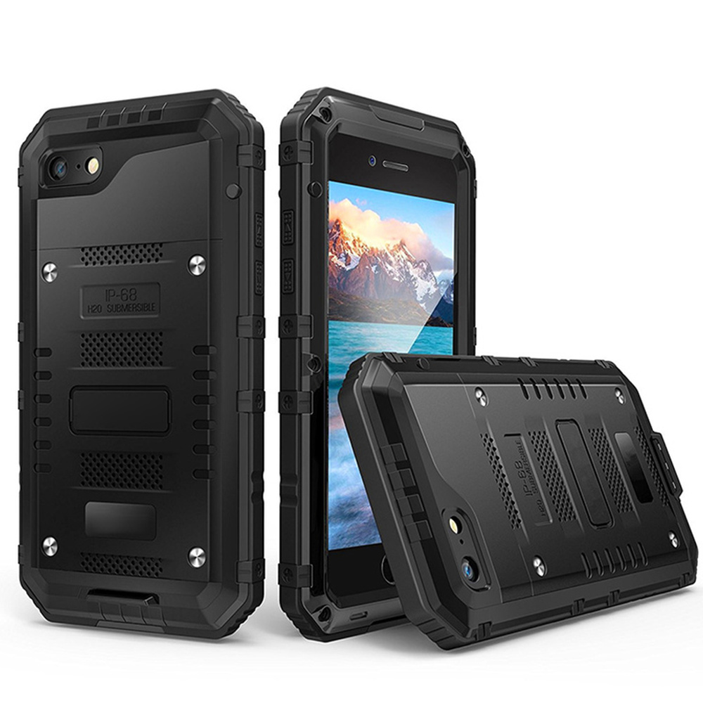 IP68 Waterproof case for iPhone 7 8 case Outdoor Heavy Duty Rugged Metal Shockproof for coque iPhone 6 6s 7 8 Plus X Cover