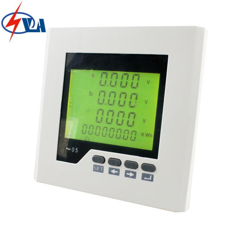 3D2Y frame size 120*120mm 3 phase panel ammeter multifunction mete LCD digital only минипечь gefest пгэ 120 пгэ 120