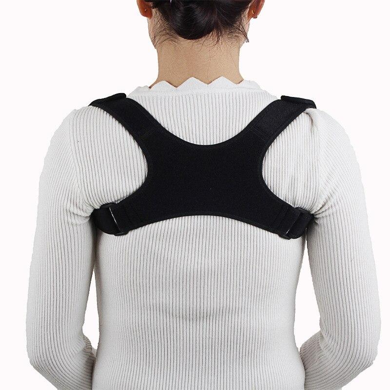 Black Adjustable Posture Corrector Back Shoulder Support Correct Brace Belt For Men Women