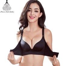 0a861071a616 Super Push Up Bras Para Mulheres Underwear Lingerie Sem Costura Sutiã  Bralette BH Sexy Mulheres Bras Fio Grátis Soutient Desfila.