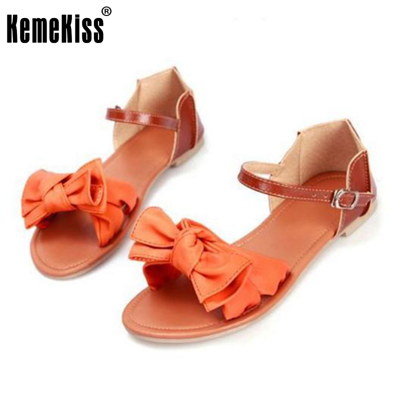 plus size 31-45 women sandals bohemia bowknot ankle wrap flat sandals brand fashion ladies footwear women shoes P23538 2016 new women sandals bohemia bowknot ankle wrap flat sandals brand fashion ladies footwear shoes large size 34 39