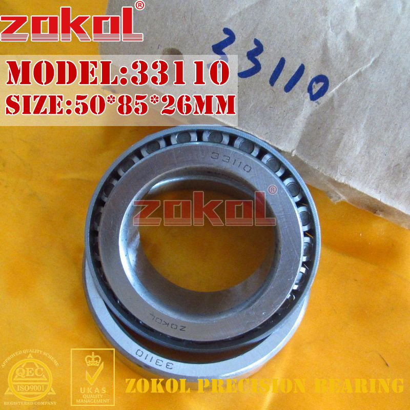 ZOKOL bearing 33110 3007710E Tapered Roller Bearing 50*85*26mm zokol bearing 31310 27310e tapered roller bearing 50 110 29 5mm
