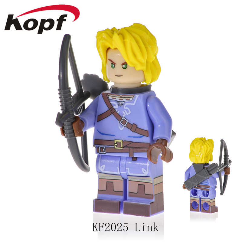 מכירה אחת לבני דמויות את מפורסם משחק נסיכת זלדה קישור אבני בניין בובות צעצועים לילדים מתנה KF2027