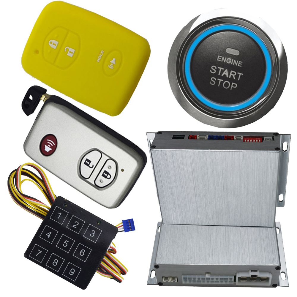 car pke smart key passive keyless entry ignition button start stop engine auto central lock unlock working with our gps module passive car alarm system smart key auto keyless entry central door lock system ignition button start stop online discount price