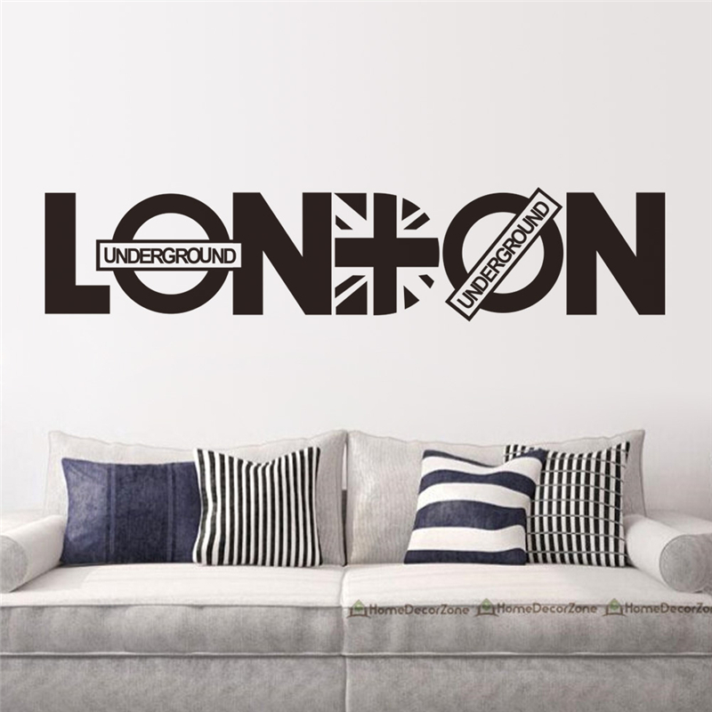 hot selling london letters backdrop wall art stickers for living room home decoration removable diy decals
