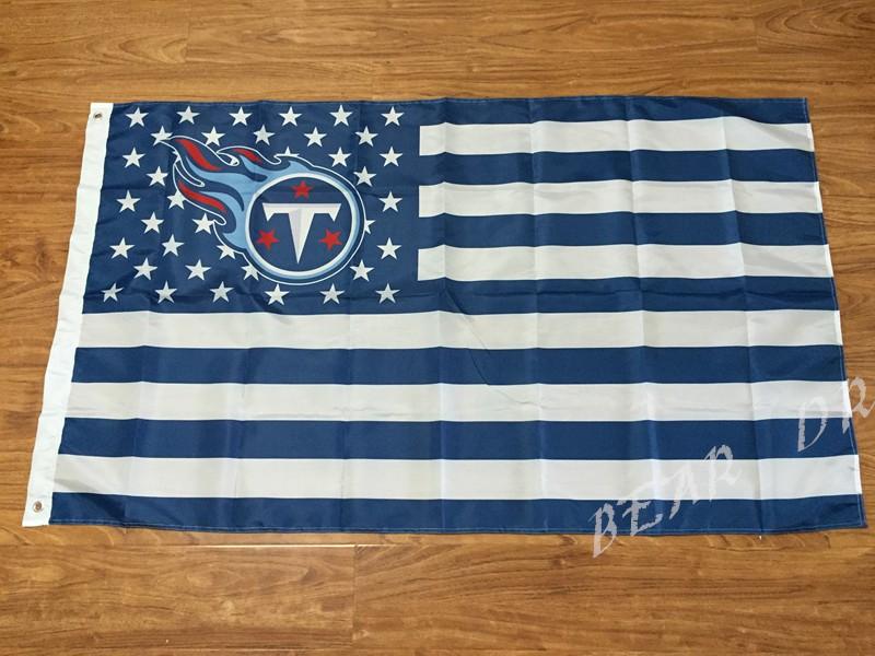 Nfl Tennessee Titans Flag 3ftx5ft Banner 100d Polyester