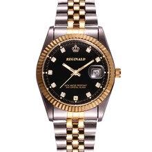 Business casual fashion luxury brand men's watch strip date diamond waterproof quartz watch relogio masculino