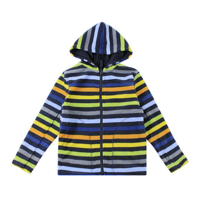 Nova Primavera Outono Crianças manga comprida camisola hoodies do bebê das meninas dos meninos com capuz sólida casaco de lã polar outwear 5-13years