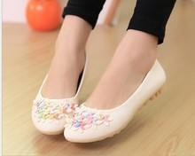 2014 NEW Fashion spring and autumn Casual Loafers pregnant woman nurse Driving Women shoes Slip-on leather Women's Flats shoes