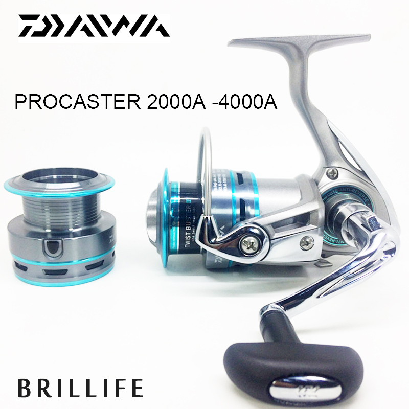 Daiwa Spinning Fishing Reel Original Daiwa PROCASTER 2000A -4000A Series 7BB Saltwater Casting Metal Spinning Reel ryobi 1000 2000 3000 4000 spinning reel bait casting reel 7 bearings
