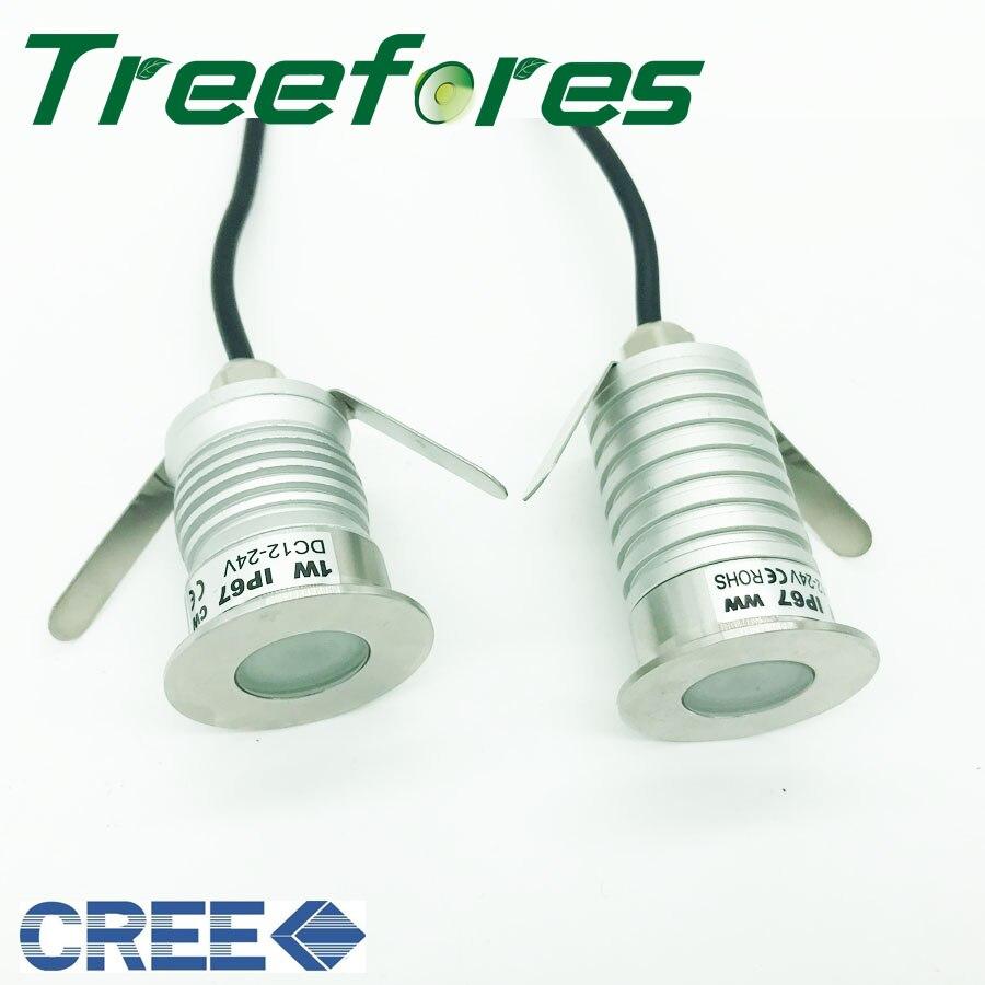 1W 3W CREE IP67 D35mm Mini Led Buried Lamp DC12V 24V Bulb Spot Light For Garden Landscape Lighting CE RoHS Spotlight