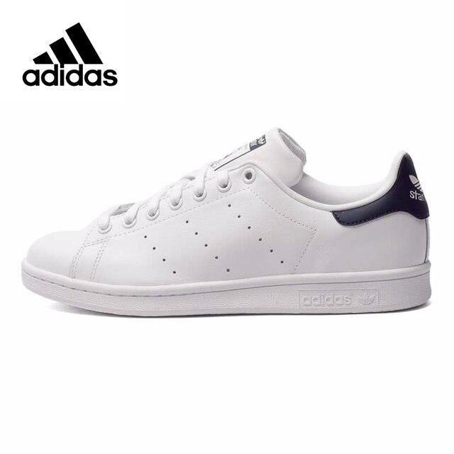 Adidas Originals для мужчин's Stan Smith обувь для скейтбординга, Аутентичные Черный Логотип Кроссовки Classique обувь на платформе дышащая