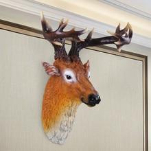 head Arts Crafts North European home creative living room, simulation animals, deer, wall pendants, shops, bars, decoration