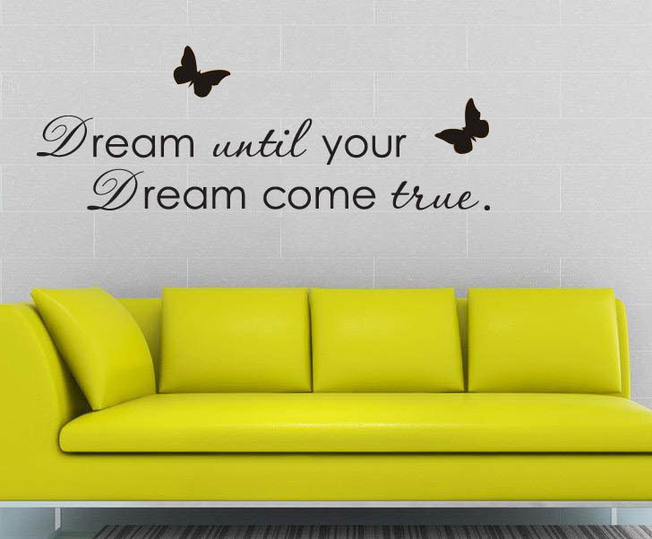 DIY Letter Dreams... Poem Wall Sticker Living Room Quotes Vinyl ...