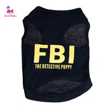 Dogbaby Dog Clothes Summer Coat FBI Police Dogs Vest Design T-shirt Puppy Costumes for small Pet Dogs Cat Cachorro Mascotas S20