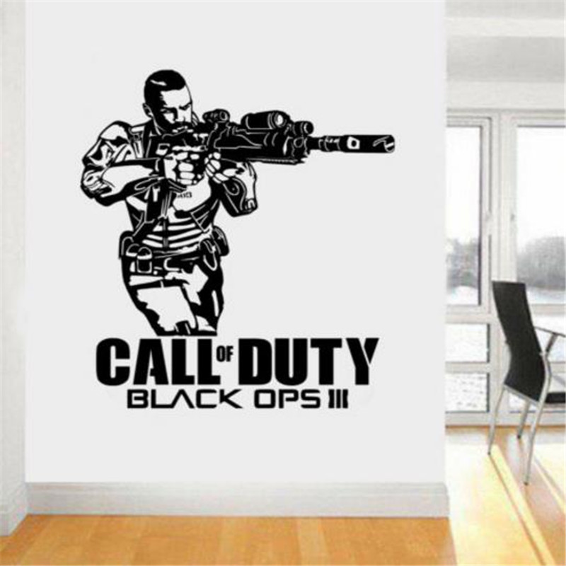 Call of duty Black Ops 3 style ps4 xbox teen room Vinyl wall art Decal Sticker