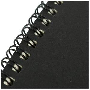 Image 3 - โน้ตบุ๊คสำนักงานหรือโรงเรียนเครื่องเขียนRetro Kraftขดลวดร่างSketchbooksโน้ตบุ๊คว่างเปล่าสีดำและสีขาว