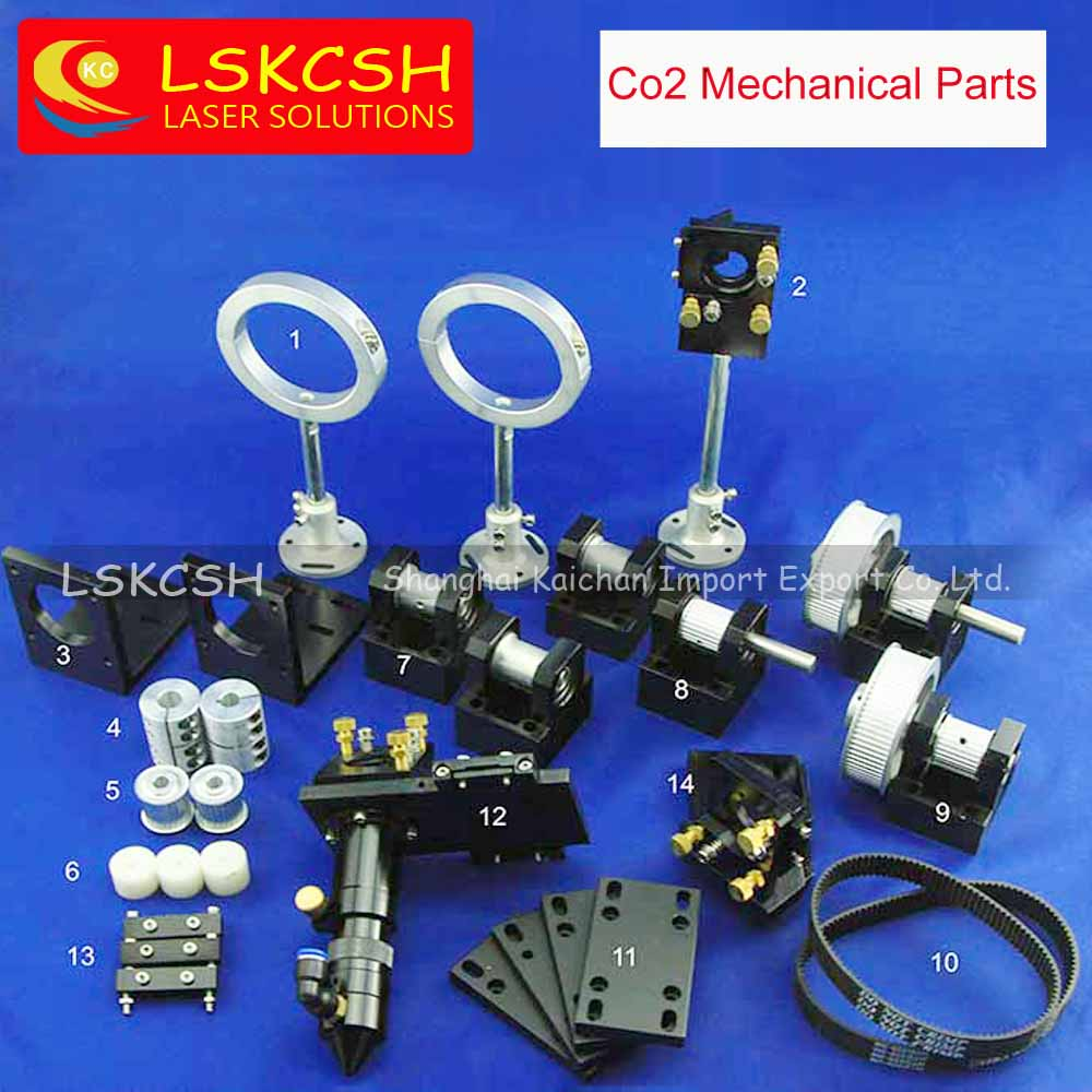 LSKCSH single head CO2 laser mechanical Co2 laser cutting/engraving machines parts for wholesale CO2 DIY laser spare parts co2 laser head set co2 laser metal parts co2 laser path use for laser cutting and engraving machine