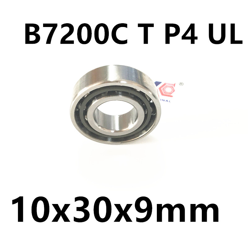 1pcs AXK  7200 7200C B7200C T P4 UL 10x30x9 Angular Contact Bearings Speed Spindle Bearings CNC ABEC-7 1pcs mochu 7205 7205c b7205c t p4 ul 25x52x15 angular contact bearings speed spindle bearings cnc abec 7
