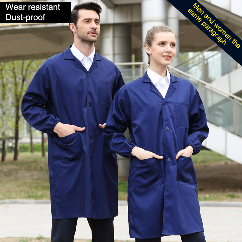 Men Women Work Cothing Dust-proof Warehouse Laboratory Working Clothes Unisex Workshop Wear-resistant Protective Clothing