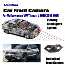 Liandlee Car Front View Camera For Volkswagen VW Tiguan L 2016 2017 2018 Logo Embedded / Cigarette Lighter 4.3 LCD Monitor